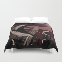 carnage Duvet Covers featuring Whale Carnage by Earnestly Elsewhere