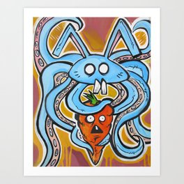 Eat Vegetarian Art Print