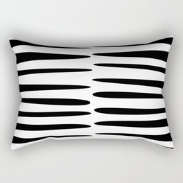 art abstract black and white Rectangular Pillow