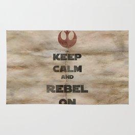 Keep Calm and Rebel On Rug