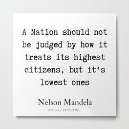 25  | Nelson Mandela  Quotes | 190818 Metal Print