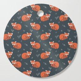 Red Panda Pattern Cutting Board