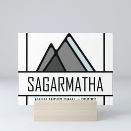 Sagarmatha Mountain Design Mini Art Print
