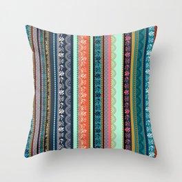 Bohemian Tribal Stripe Throw Pillow