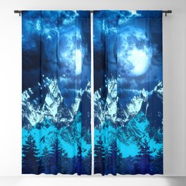 Twilight Landscape Blackout Curtain
