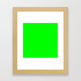 Lime Green Framed Art Print