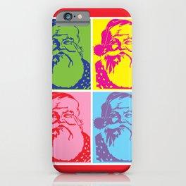 Santa Pop art Merry Christmas iPhone Case