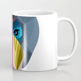 Male Mandrill Head Flat Icon Coffee Mug