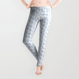 Classic Blue And White Watercolor Ginger Jar Chinoiserie Pattern Leggings