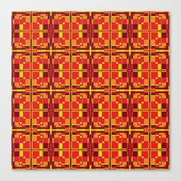 Red and Yellow Cross Pattern Canvas Print