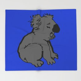 The amusing koala Throw Blanket