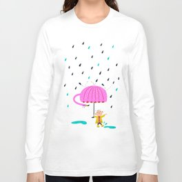one of the many uses of a flamingo - umbrella Long Sleeve T-shirt