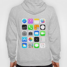 Phone Apps (Flat design) Hoody