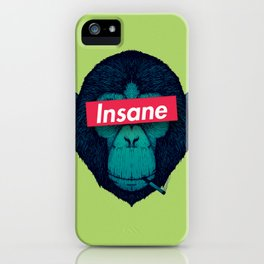 Insane monkey iPhone Case