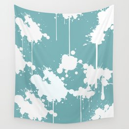 Abstract Paint Splashes Wall Tapestry