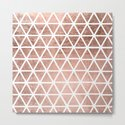 Geometric faux rose gold foil triangles pattern by girlytrend