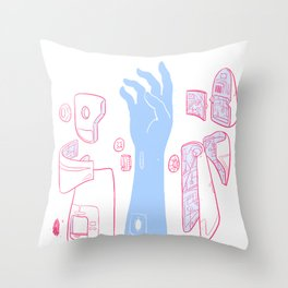 Android Arm Throw Pillow