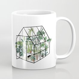 greenhouse with plants Coffee Mug