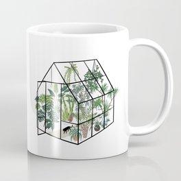 greenhouse with plants Coffee Mug
