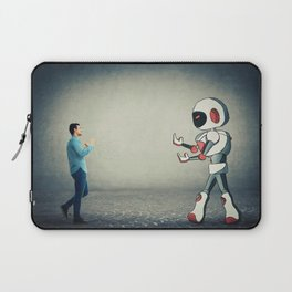 fight against robot Laptop Sleeve