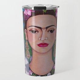 Frida cat lover closer Travel Mug