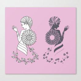 Ladies' Pink Elegance siluette Canvas Print