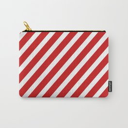 Red Diagonal Stripes Carry-All Pouch