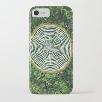 tree rings iPhone & iPod Cases featuring Tree Rings by Zoë Miller