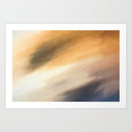 Abstract Beige to Grey Shades.   Like painted on canvas. Art Print