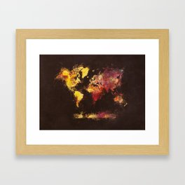 world map 63 Framed Art Print