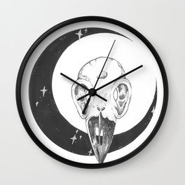 RAVEN+MOON Wall Clock