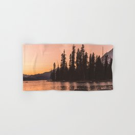 Forest Island at the Lake - Nature Photography Hand & Bath Towel