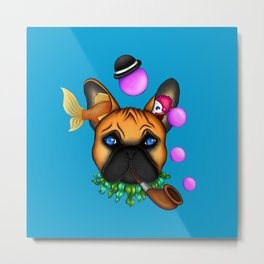 Drunk Dog Metal Print