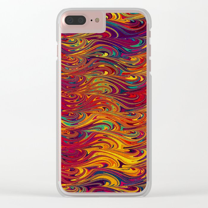Wave Of Colors 2 Clear iPhone Case