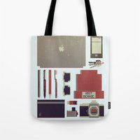 8bit Tote Bags featuring 8Bit Handbag by Thecansone