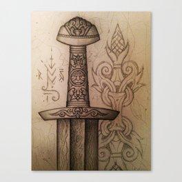 Mytho-Slavic Sword Canvas Print