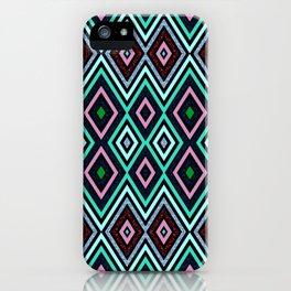 Aqua Diamond Pattern iPhone Case