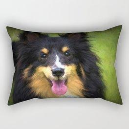 Tri colored Shetland Sheepdog Sheltie Rectangular Pillow