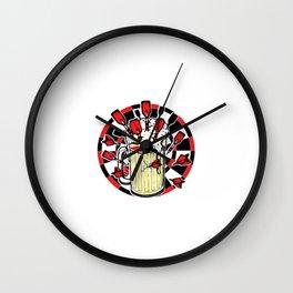 Darts Beer Dartsplayer Dartsboard Gift Wall Clock