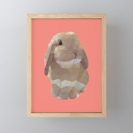 Peanut Bunny the Rabbit Polygon Art Framed Mini Art Print