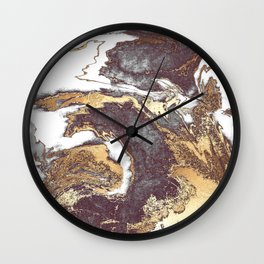 Black White Gold Wall Clock