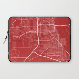 Beaumont Map, USA - Red Laptop Sleeve