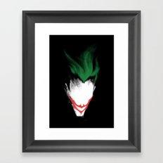 The Dark Joker Framed Art Print