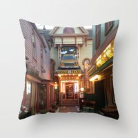 maine Throw Pillows featuring Maine by Christina Hand