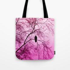 The Sentinal ~ Pink Abstract Tote Bag