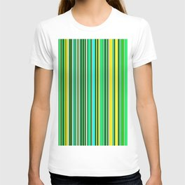 GREEN SPRING STRIPES T-shirt