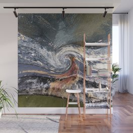 The Wave Etched in Stone Wall Mural