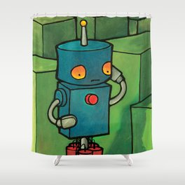 Robot - Self Destrukt Shower Curtain