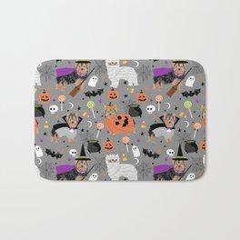 Yorkie halloween costumes pumpkin mummy witch vampire ghost yorkshire terrier Bath Mat