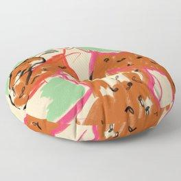 WOMAN IN A TERRACOTTA DRESS Floor Pillow